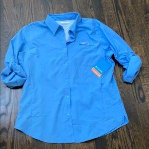 Women's Columbia NEW PFG blue shirt NWT L